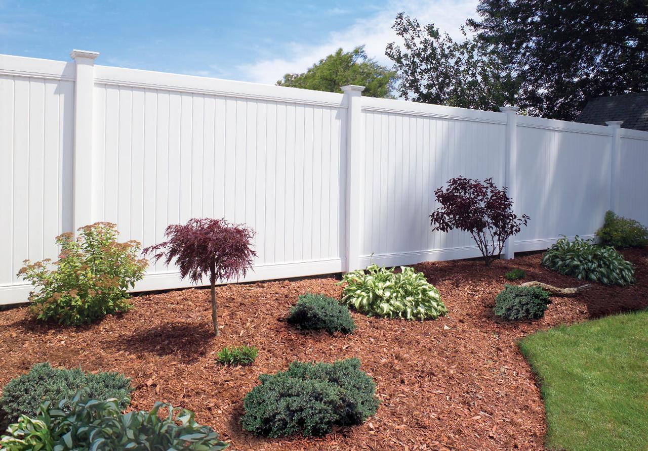 White Bufftech New Lexington Vinyl Fence
