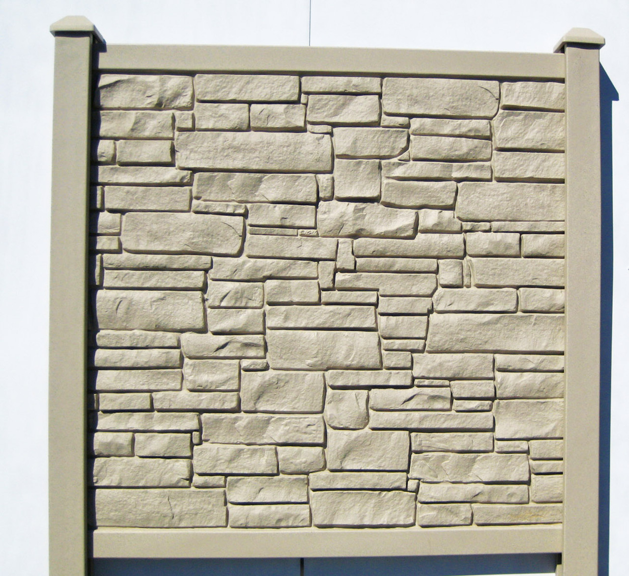 Bufftech Allegheny Molded Fence Panel - Beige Granite (Posts are sold separately)