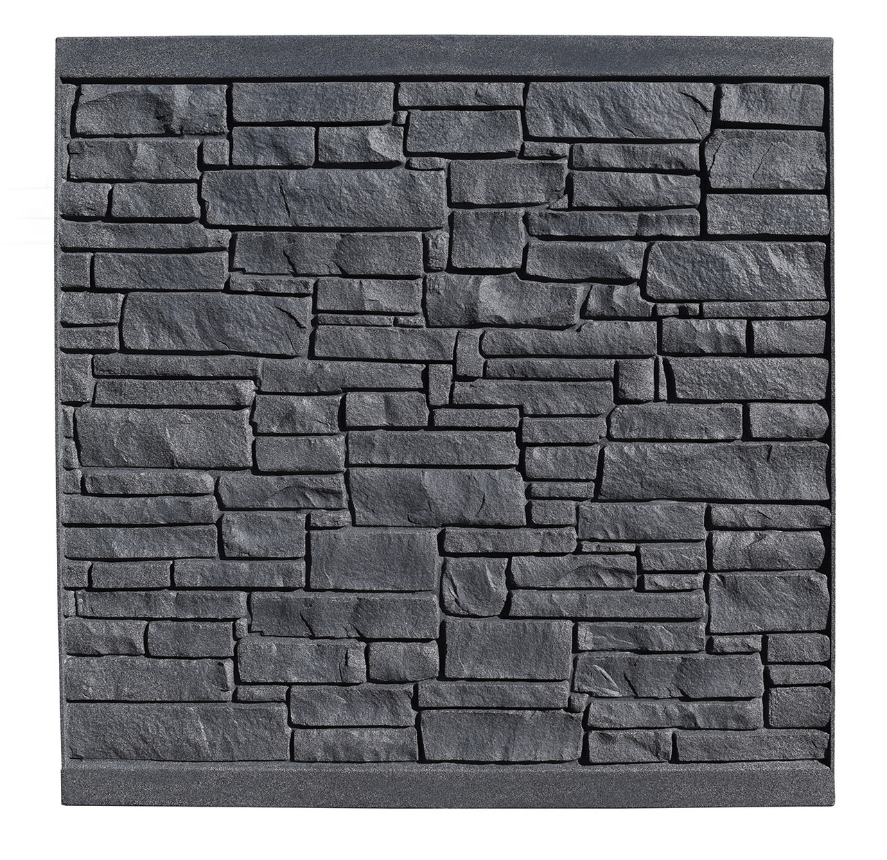 Bufftech Allegheny Molded Fence Panel - Black Granite