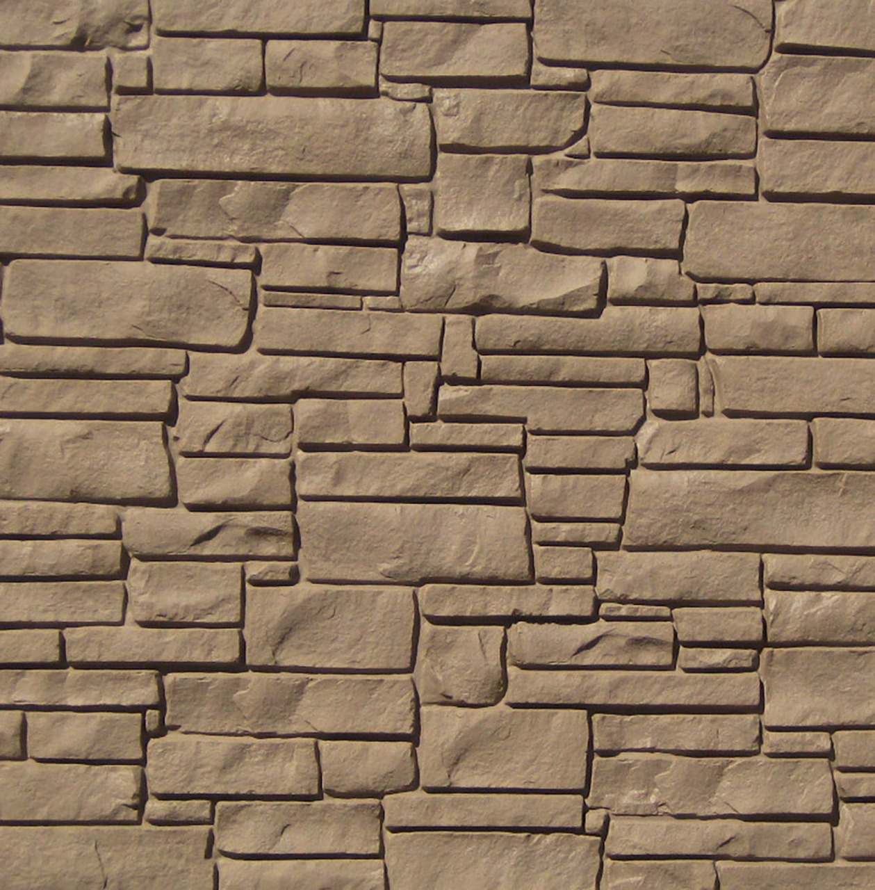 Bufftech Allegheny Molded Fence Panel - Brown Granite