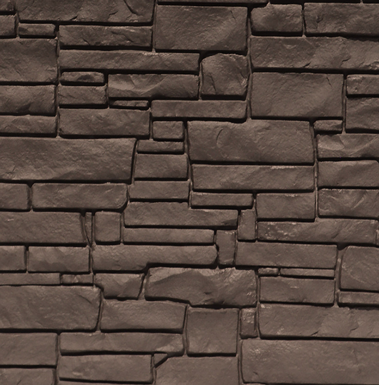 Bufftech Allegheny Molded Fence Panel - Dark Brown Granite