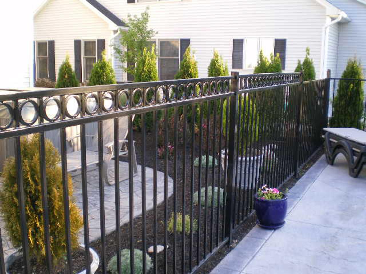 Ornamental Fence Installed Using I2-600 OZ-POST Ornamental Post Anchors