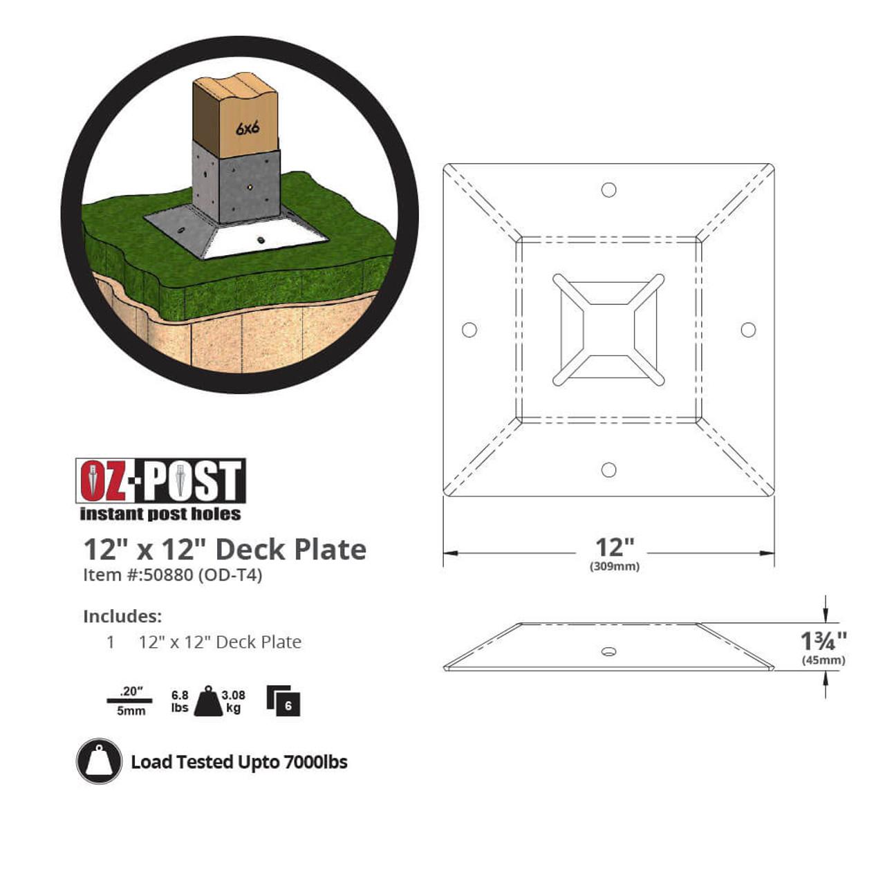 OZ-Deck OD-T4 Dimension Drawing