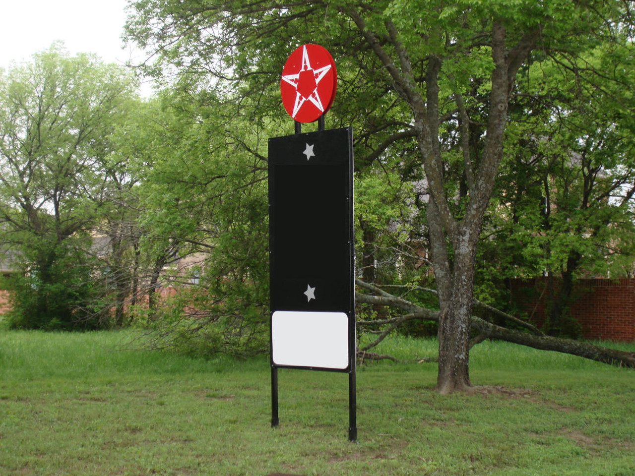 Sign Installed Using OZ-Post I3-850 Ornamental Post Anchors