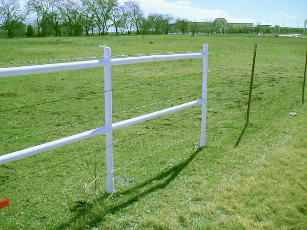 Steel Farm Fence Installed with the ISW-850 Post Anchor from OZCO Building Products