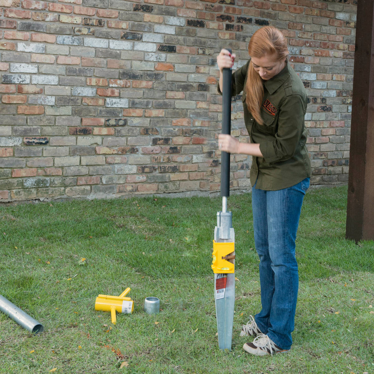 Installing an OZ-Post Post Anchor with the Manual Driving Kit (MDK-13) from OZCO Building Products