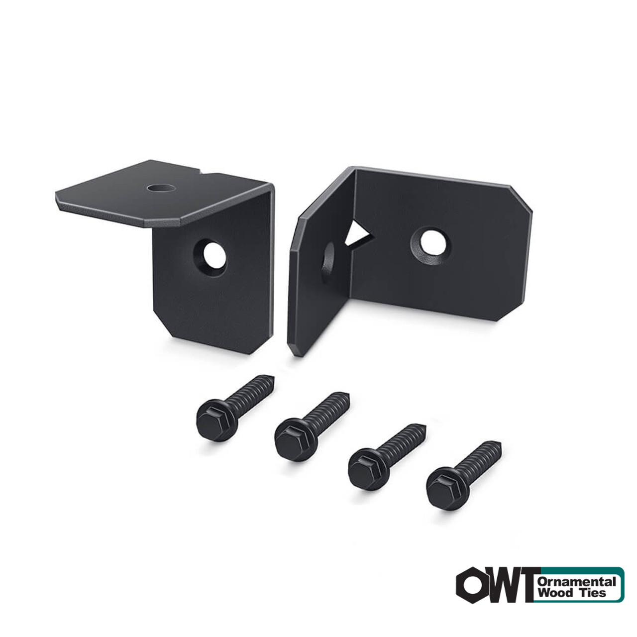 """OZCO OWT Hardware Standard Ironwood  2"""" Rafter Clips - 2 Pack"""