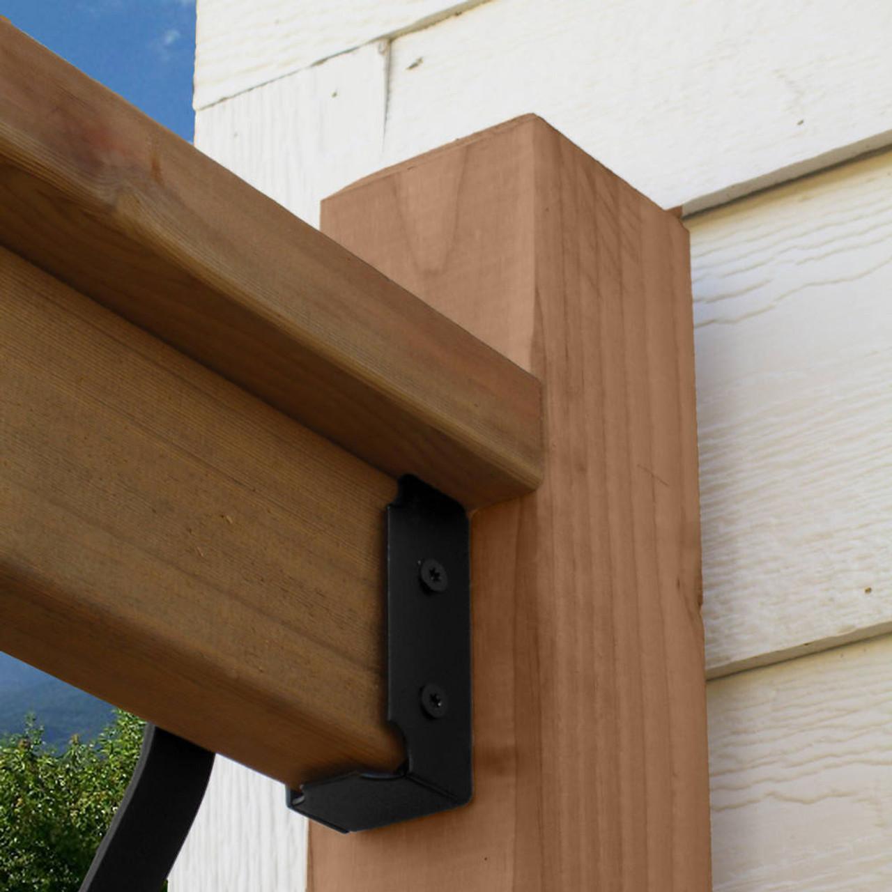 2 x 4 Wood Rail Installed with OZCO 2X4-TR Top Rail Saddle