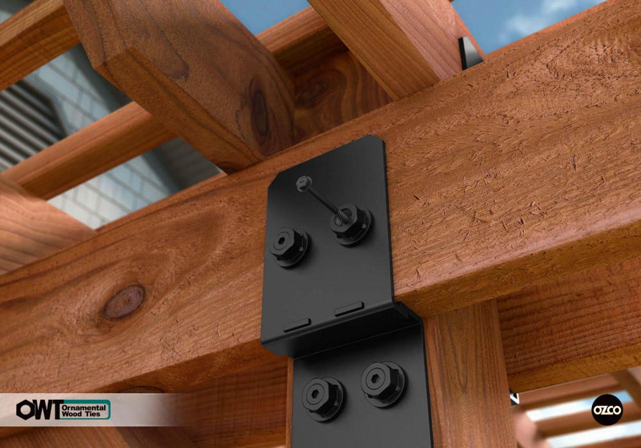 OZCO OWT Hardware Timber Screws in Cedar Pergola
