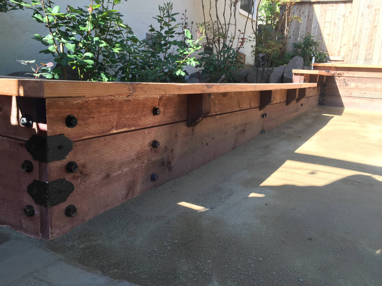 OZCO OWT Hardware Timber Screws in Raised Planter Box