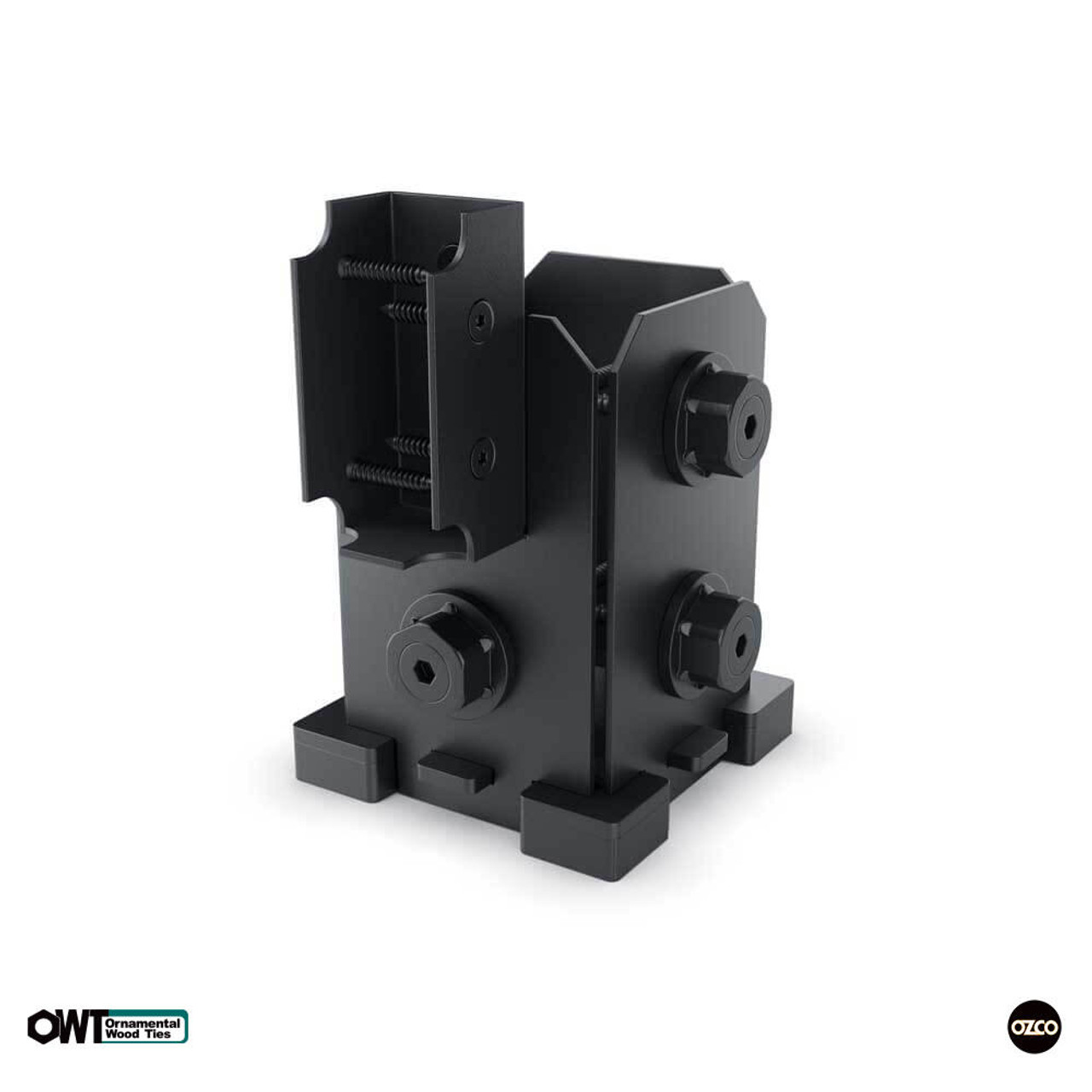 OZCO OWT 4X4-SRS-IW 4x4 Post Base Single Rail Saddle