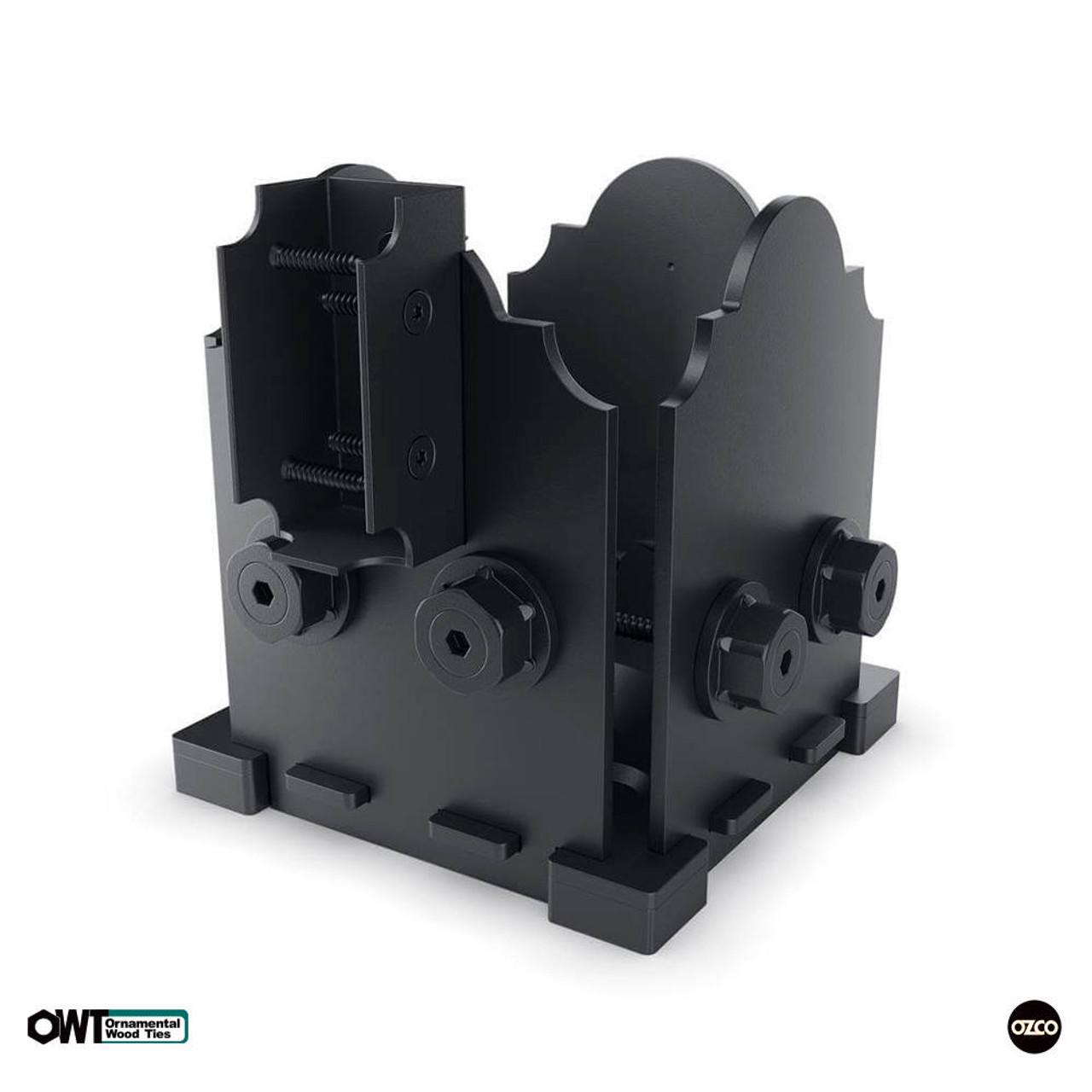 OZCO OWT Hardware 6 x 6 Post Base w/ Single Rail Saddle w/ Laredo Sunset Style