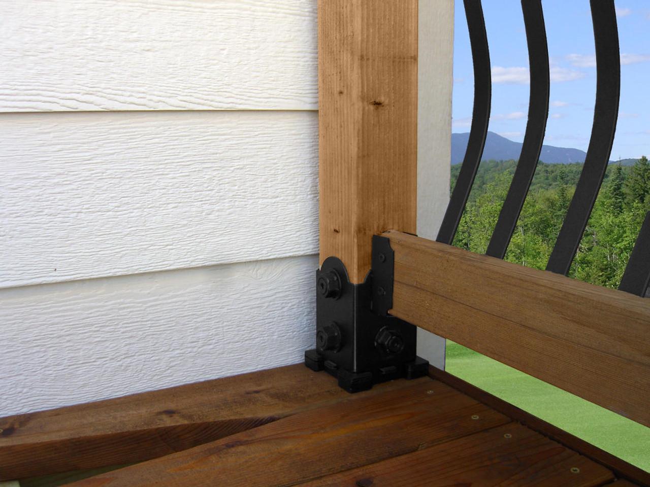Deck Railing Installed with Laredo Sunset Single Rail Saddle