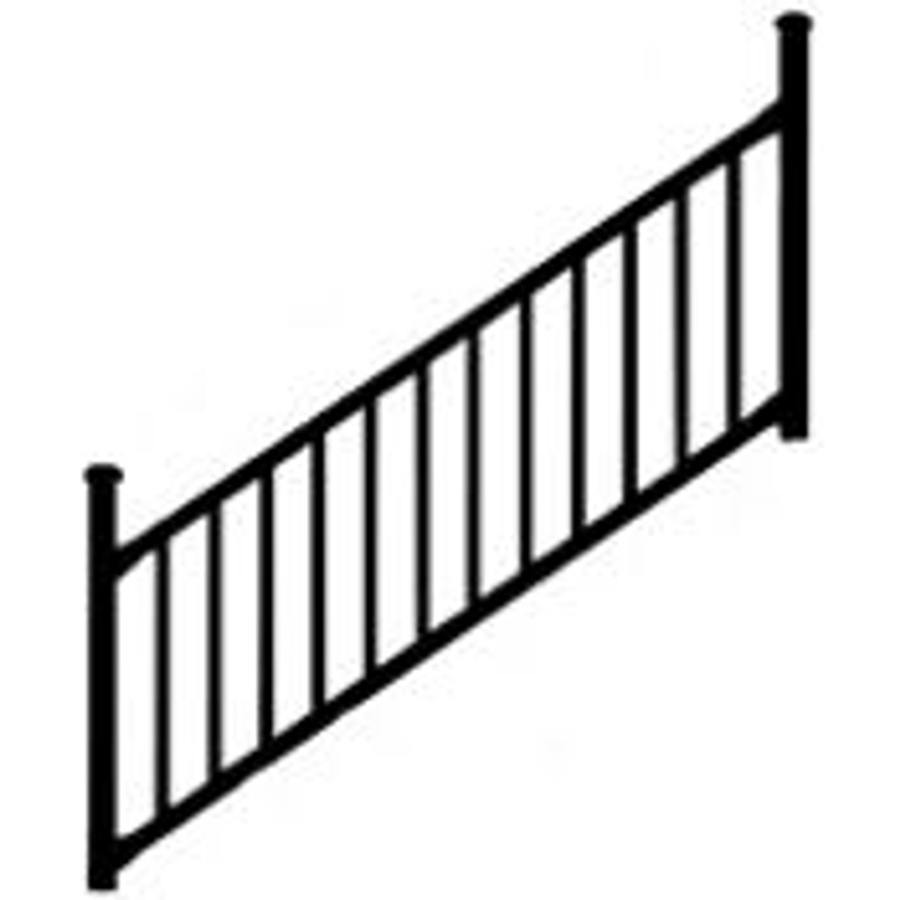 Westbury Tuscany Aluminum Stair Railing Section Kits - Choose Your Height,  Length, & Finish
