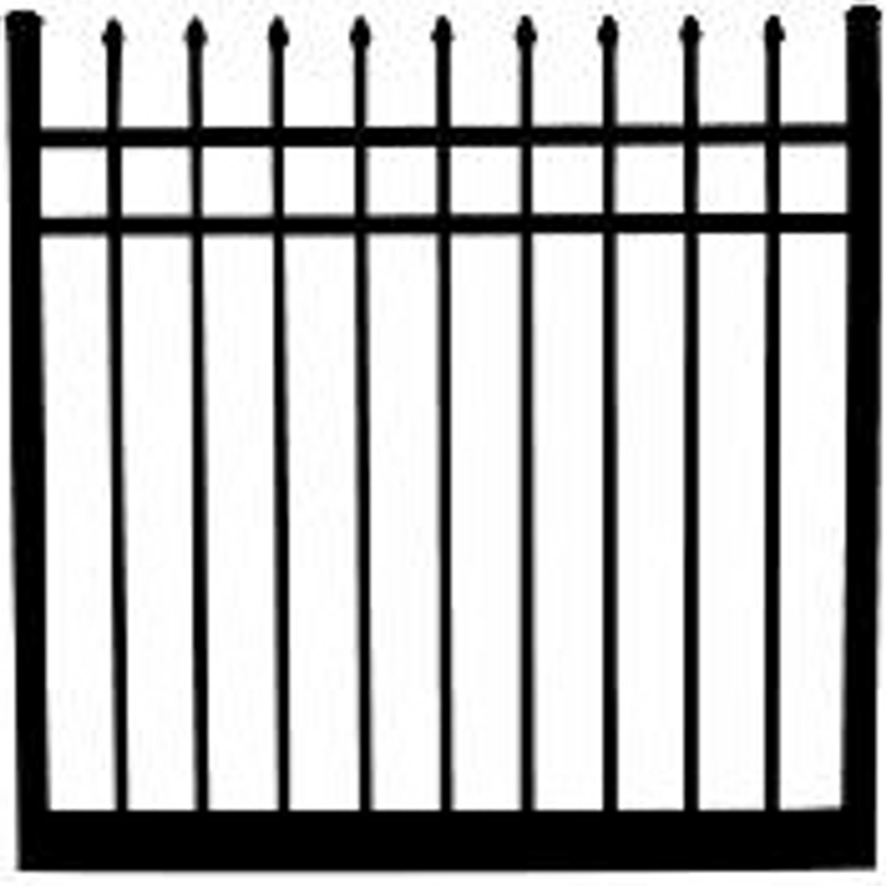 Regis 3131 Standard Fully Welded Gate with Spear Point Pickets