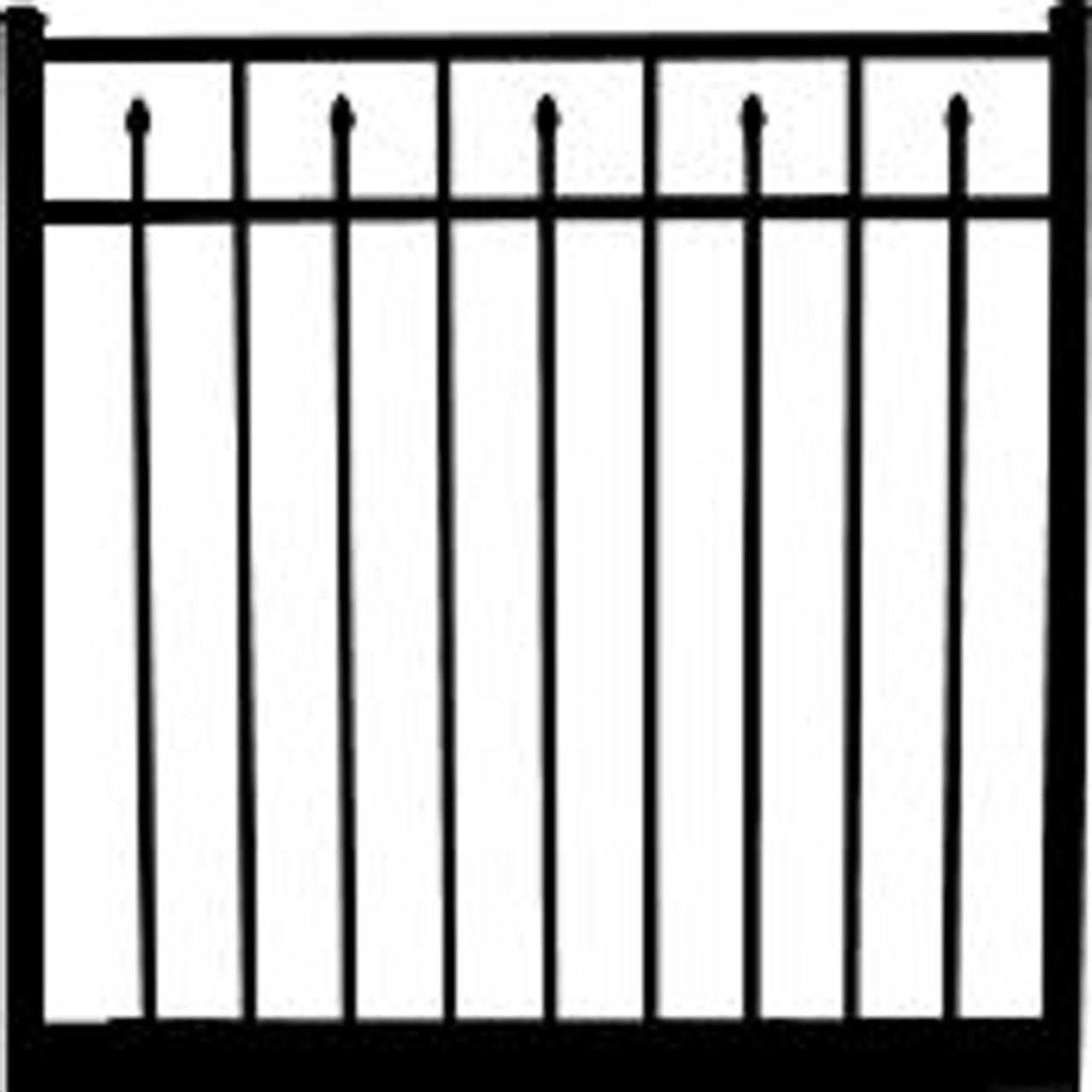 Regis 3233 Standard Aluminum Gate Drawing