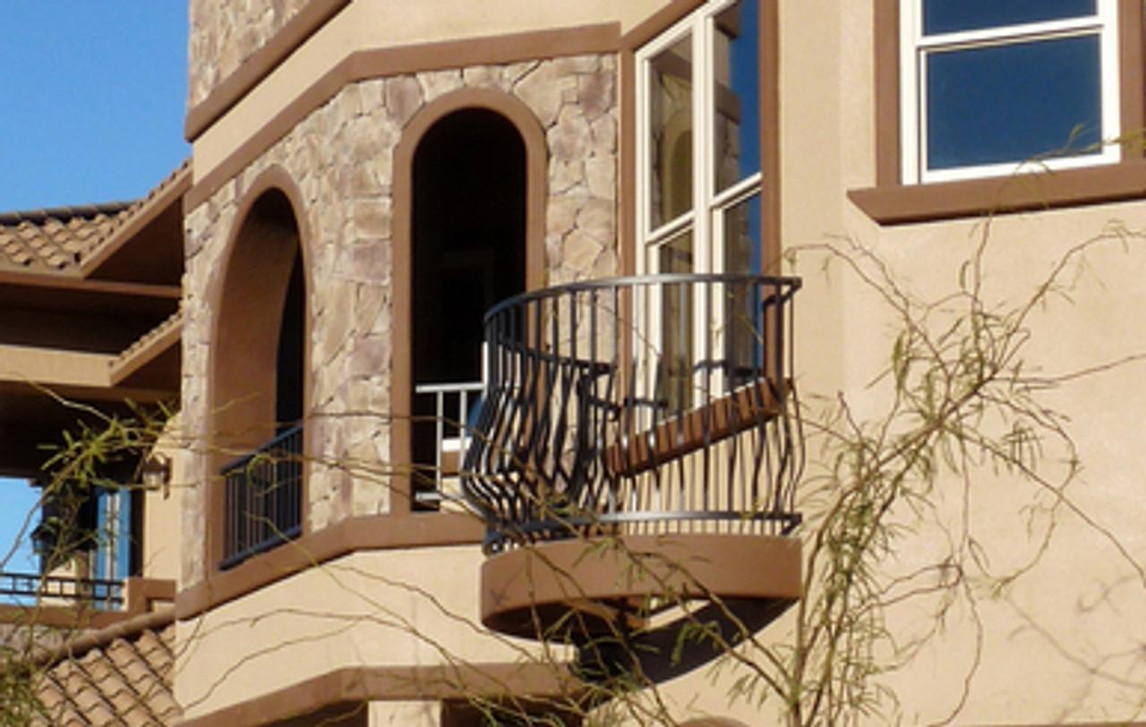 Westbury Montego Level Aluminum Railing Sections on Balcony
