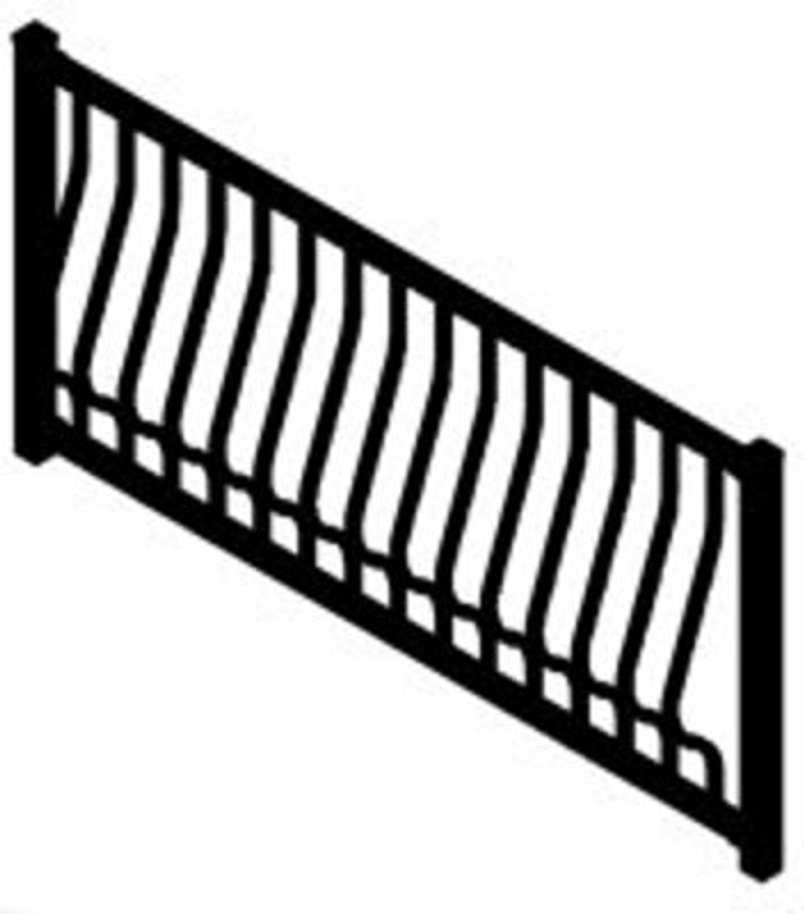 Westbury Montego Aluminum Stair Railing Section with Architectural Balusters