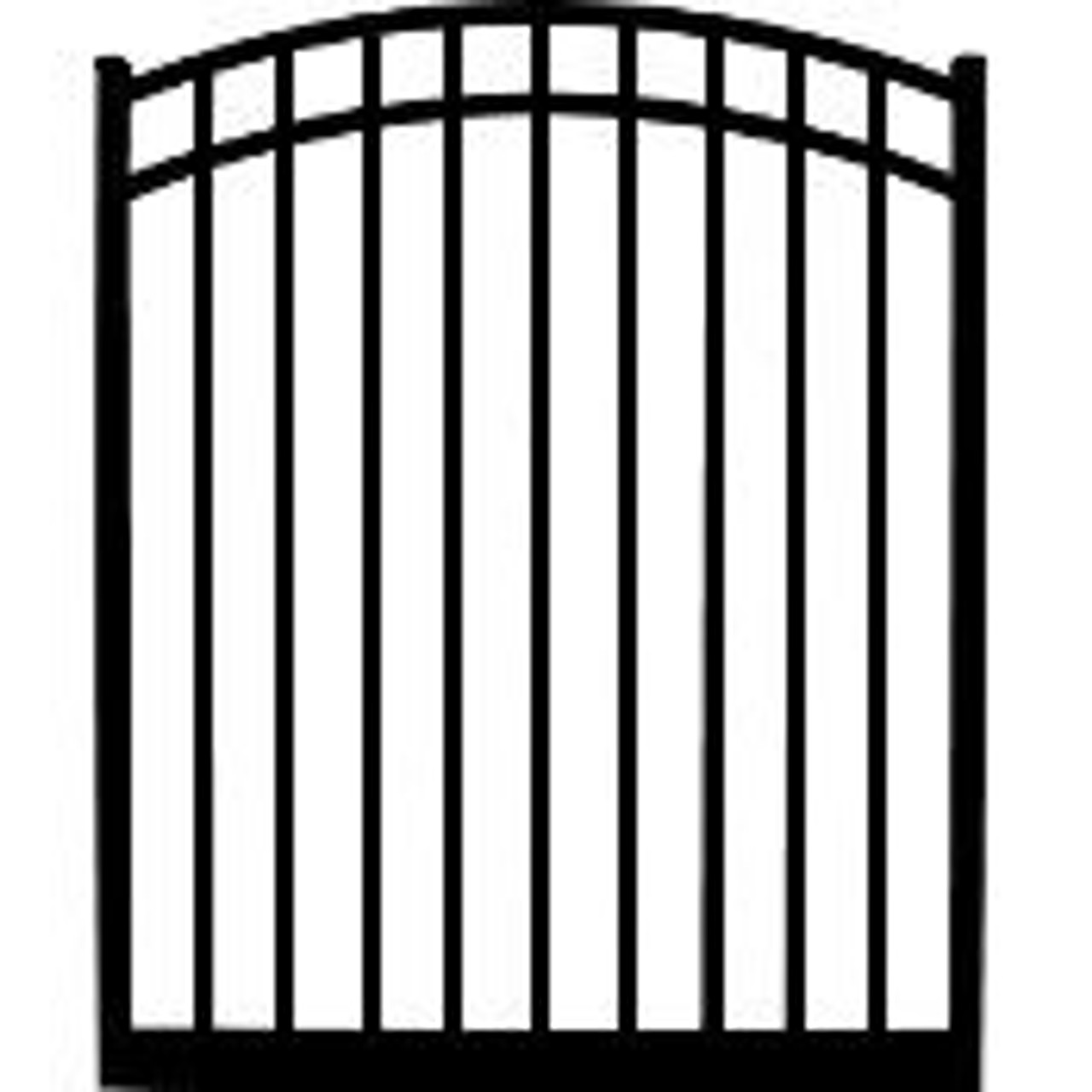 Regis 3230 Arched Aluminum Gate with 3 Rails and Flat Top