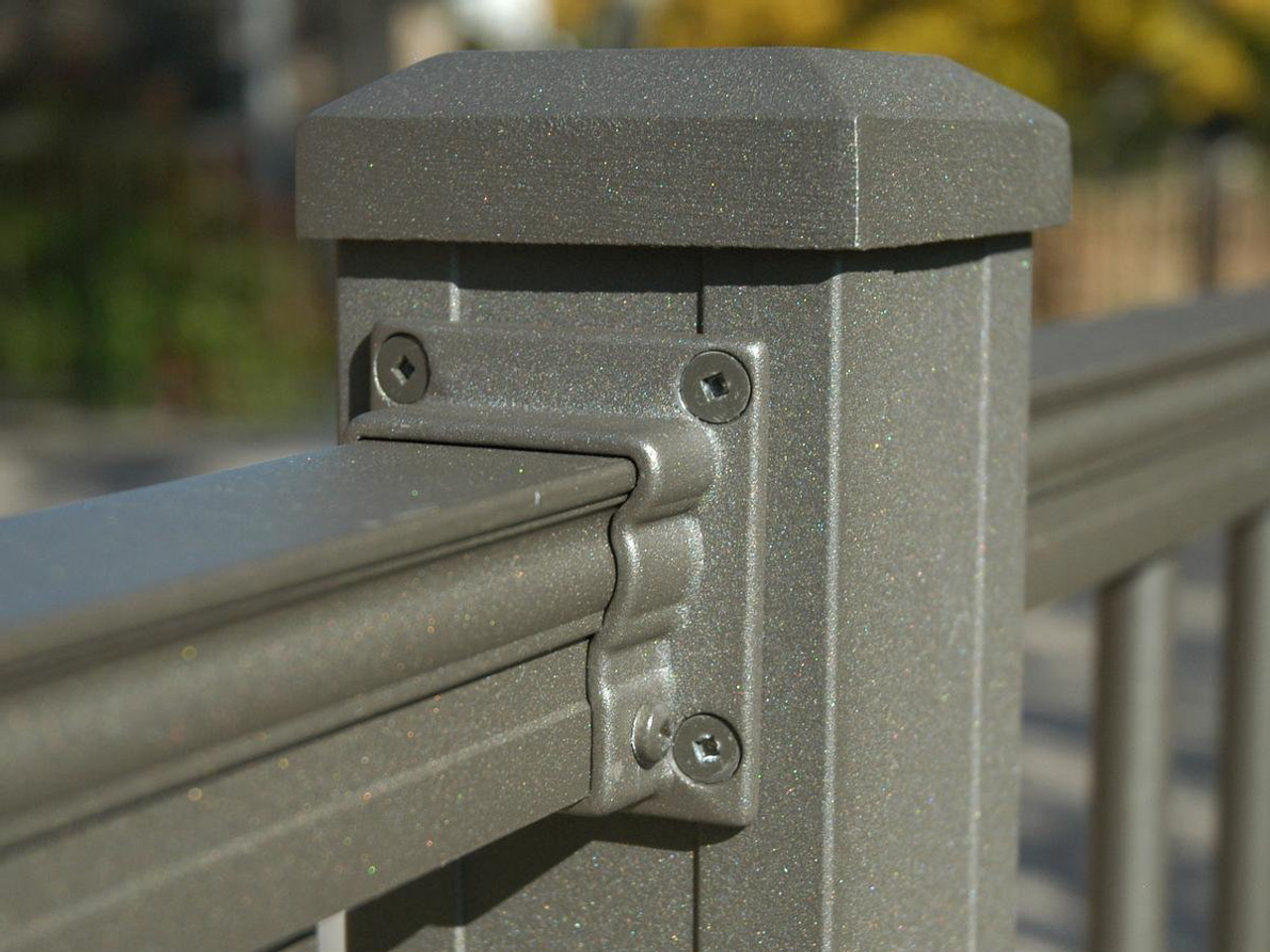 American Series Bronze Level Mount Bracket for Key-Link Aluminum Railing