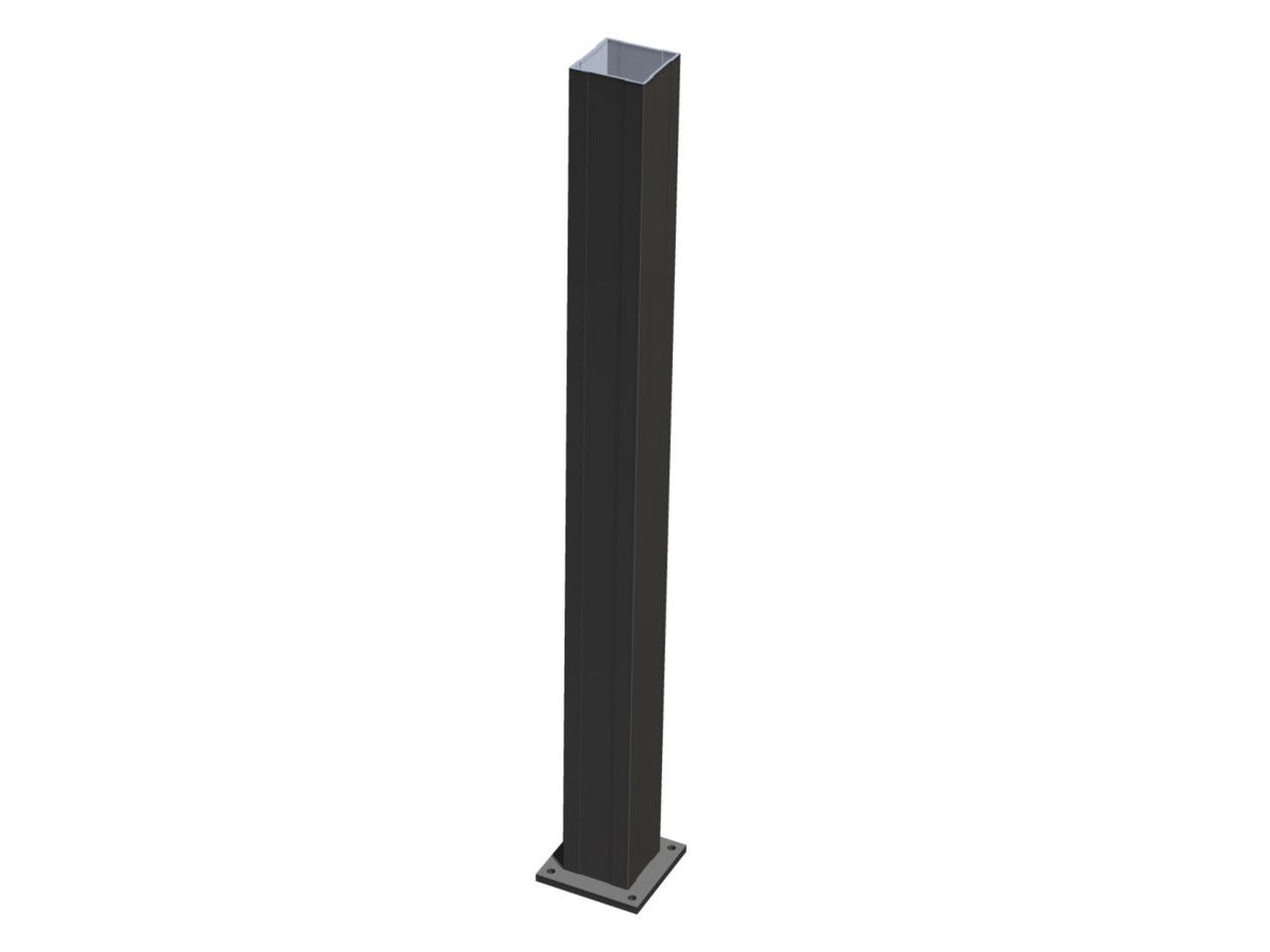 Aluminum Newel Post for Key-Link Railing