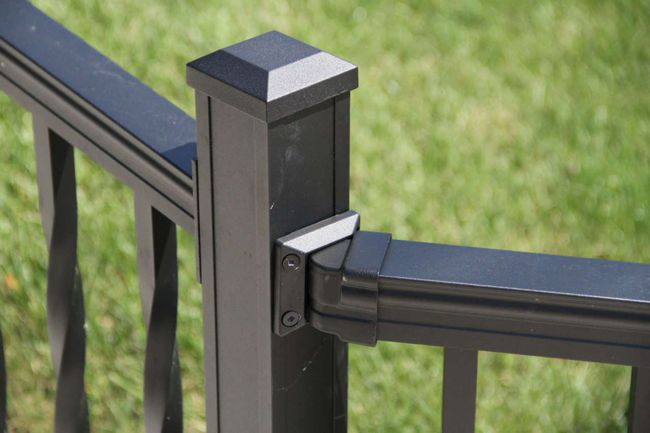 Key-Link Railing Newel Post w/ Brackets & Sections (Sold Separately)