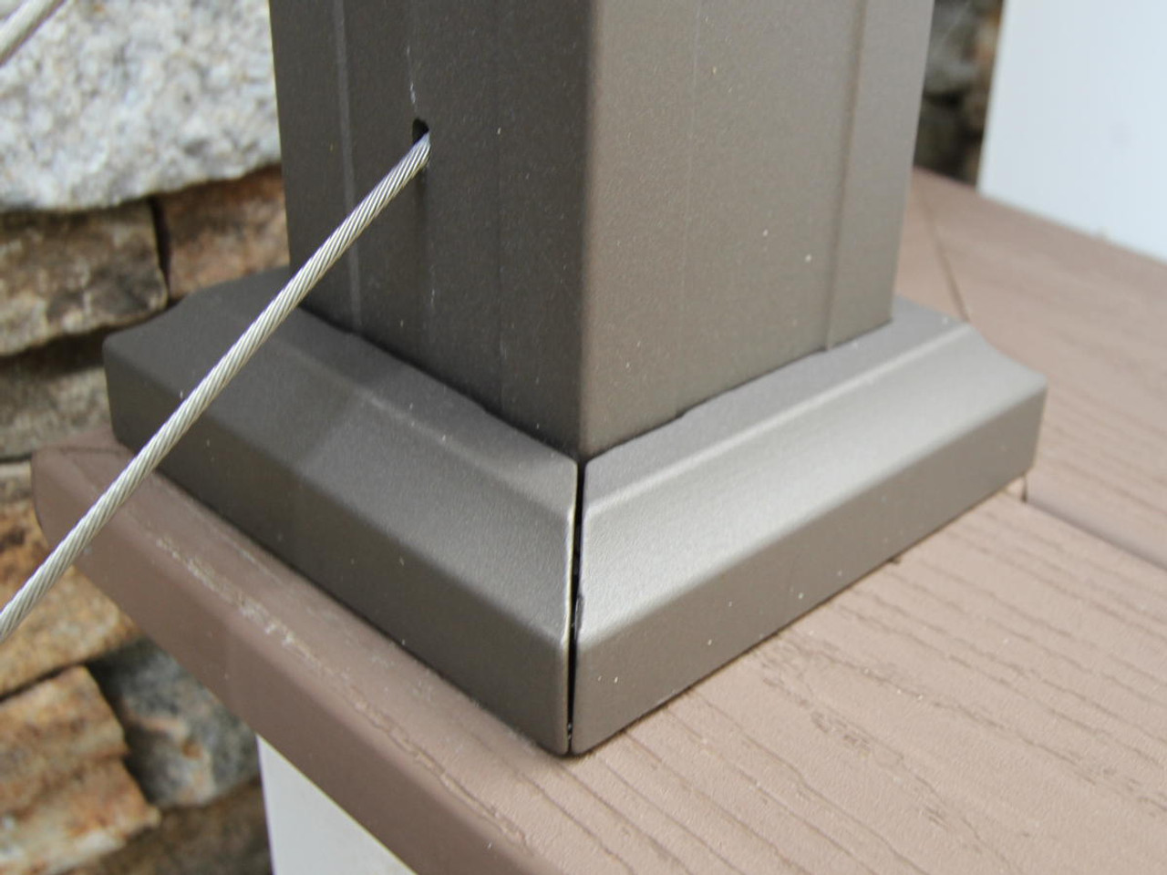 Key-Link Aluminum Railing 2-Piece Post Trim
