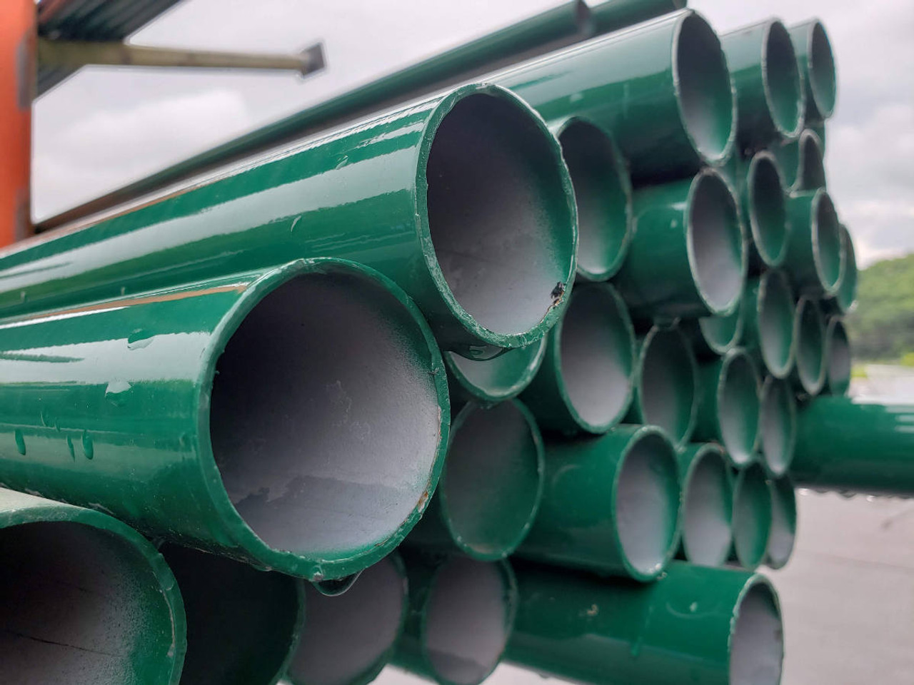Green SF20 Powder Coated Chain Link Fence Posts