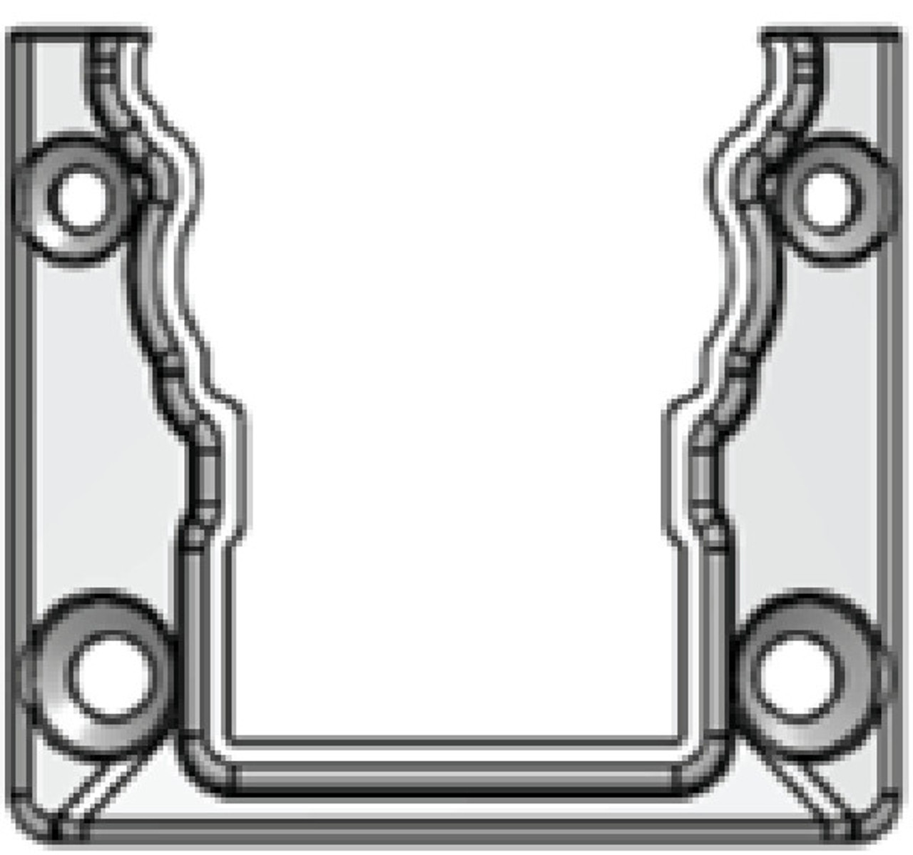 Level Deckboard Mounting Bracket for Key-Link American Series Aluminum Railing