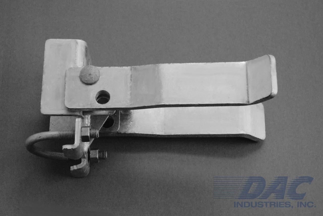 DAC Industries Round Post Walk Gate Strong Arm Latch - Galvanized