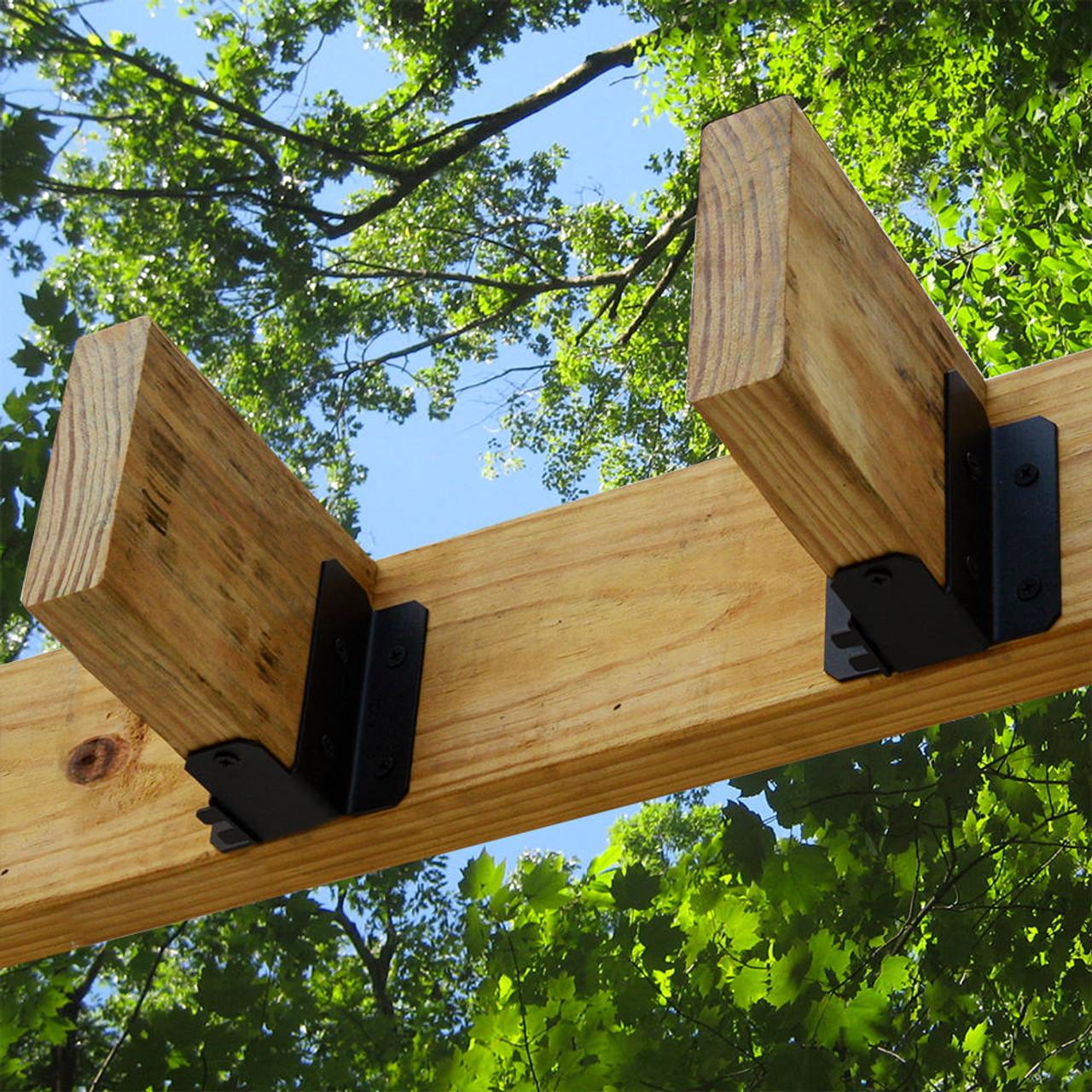 Wood Joists Secured with OZCO OWT Joist Hangers - Flush