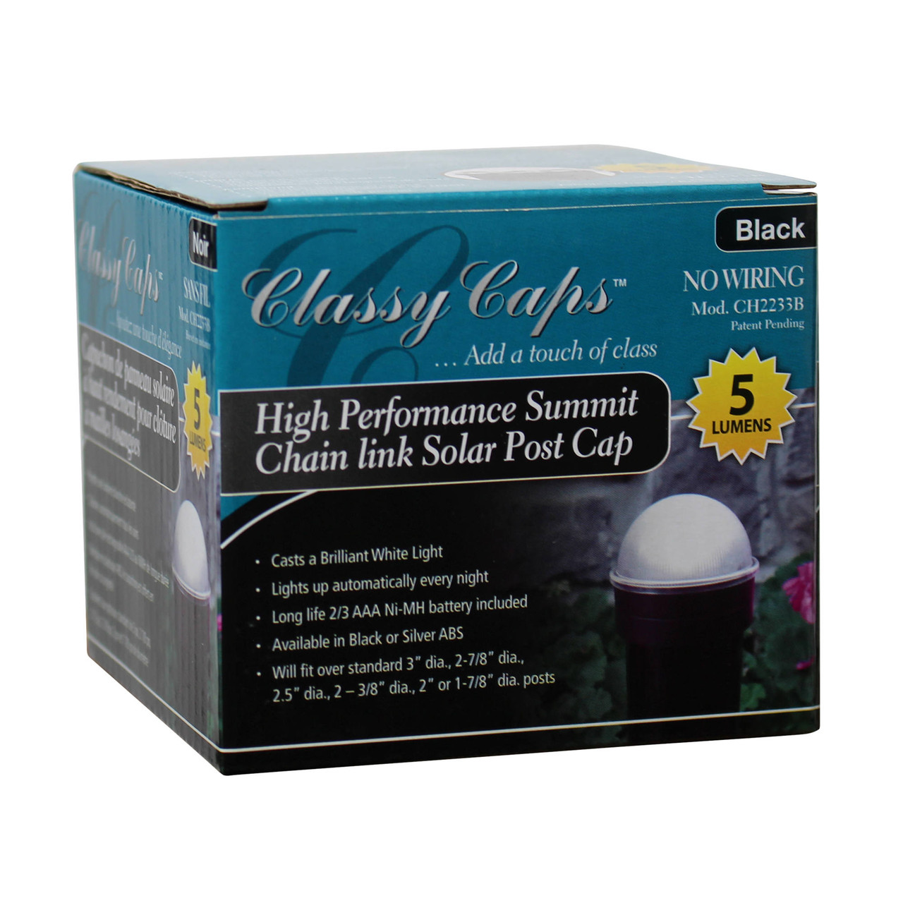 Classy Caps Summit Solar Post Cap in Box