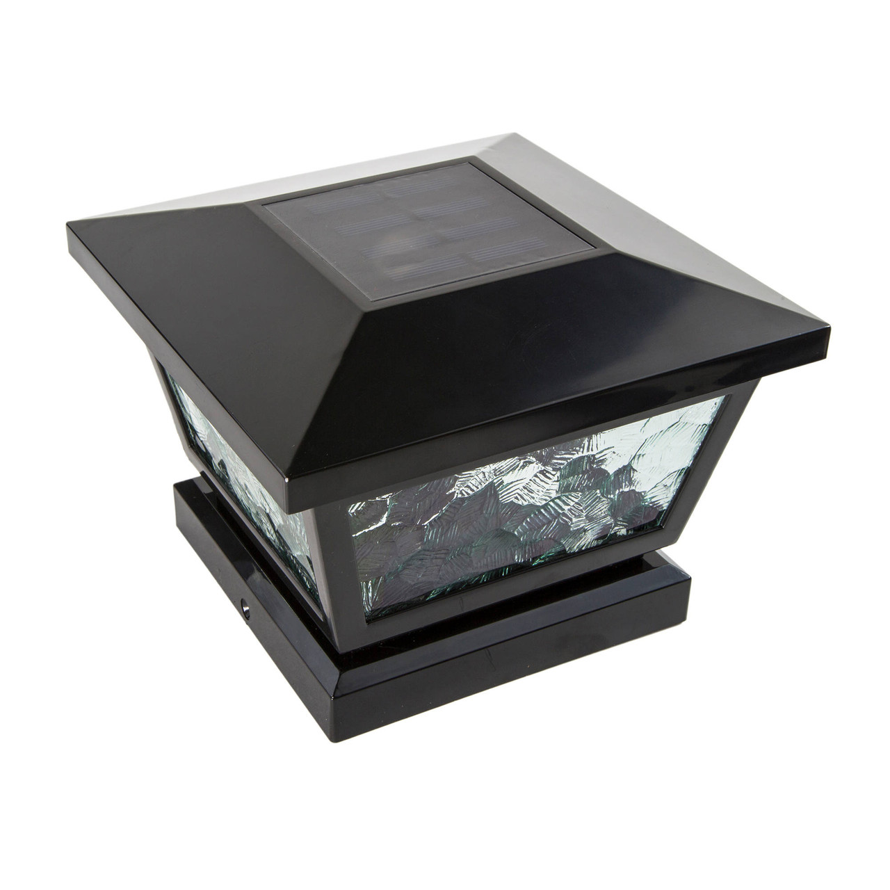 Black Fairmont Solar Light for Posts or Walls from Classy Caps