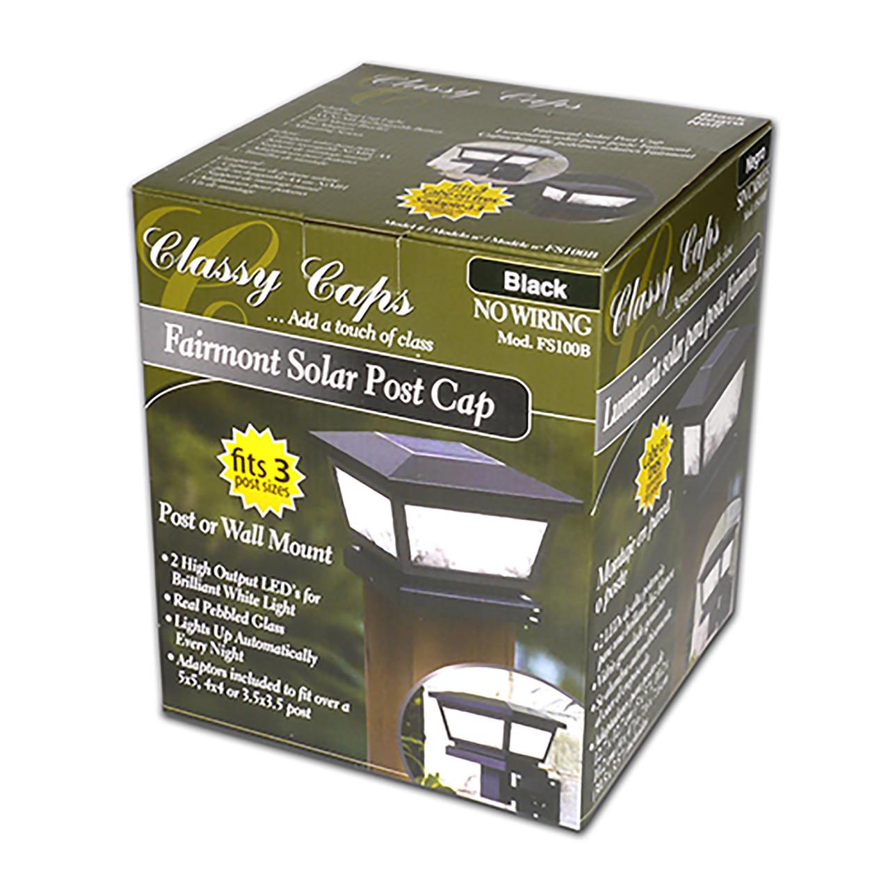 Classy Caps Fairmont Solar Post Cap in Box