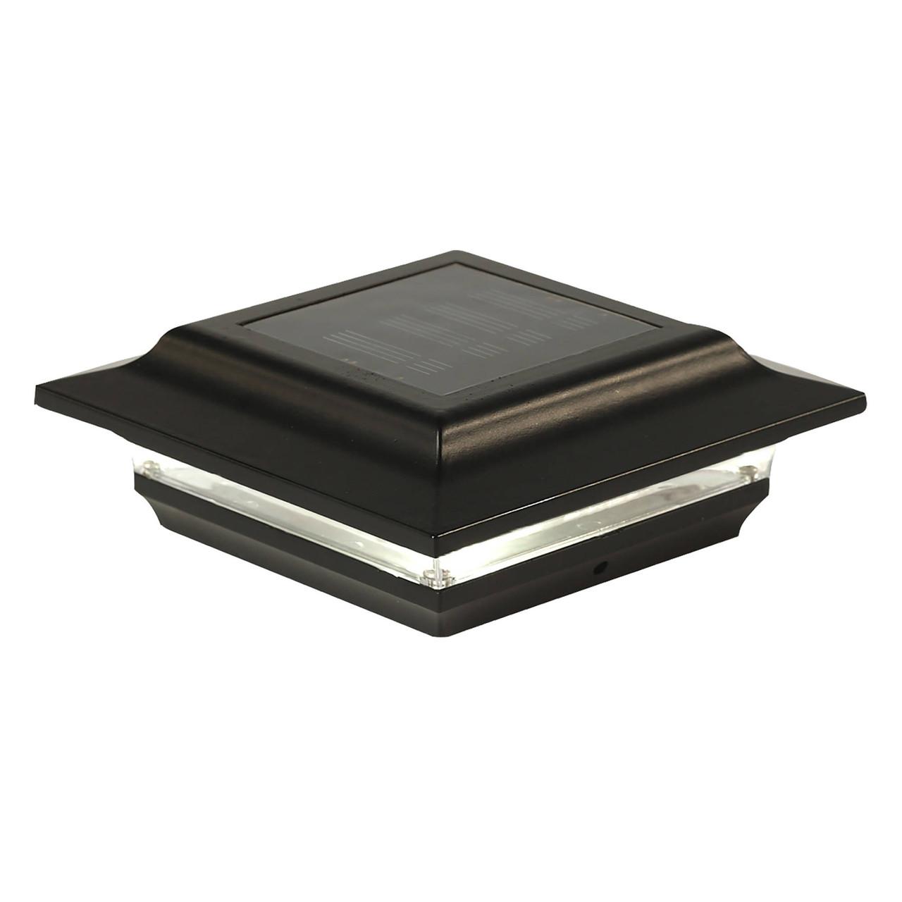 "5"" x 5"" Black Imperial Aluminum Solar Post Cap from Classy Caps - SL214B"
