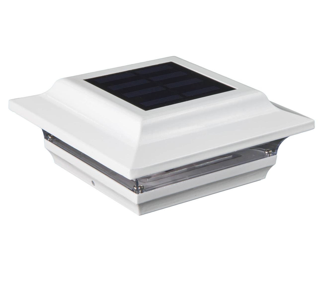 """5"""" x 5"""" White Imperial Aluminum Solar Post Cap from Classy Caps - SL214W"""