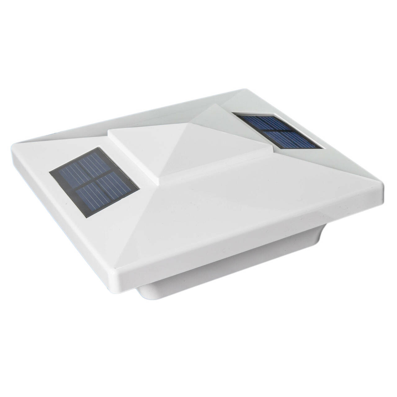 Classy Caps Windsor 4x4 White PVC Solar Post Cap