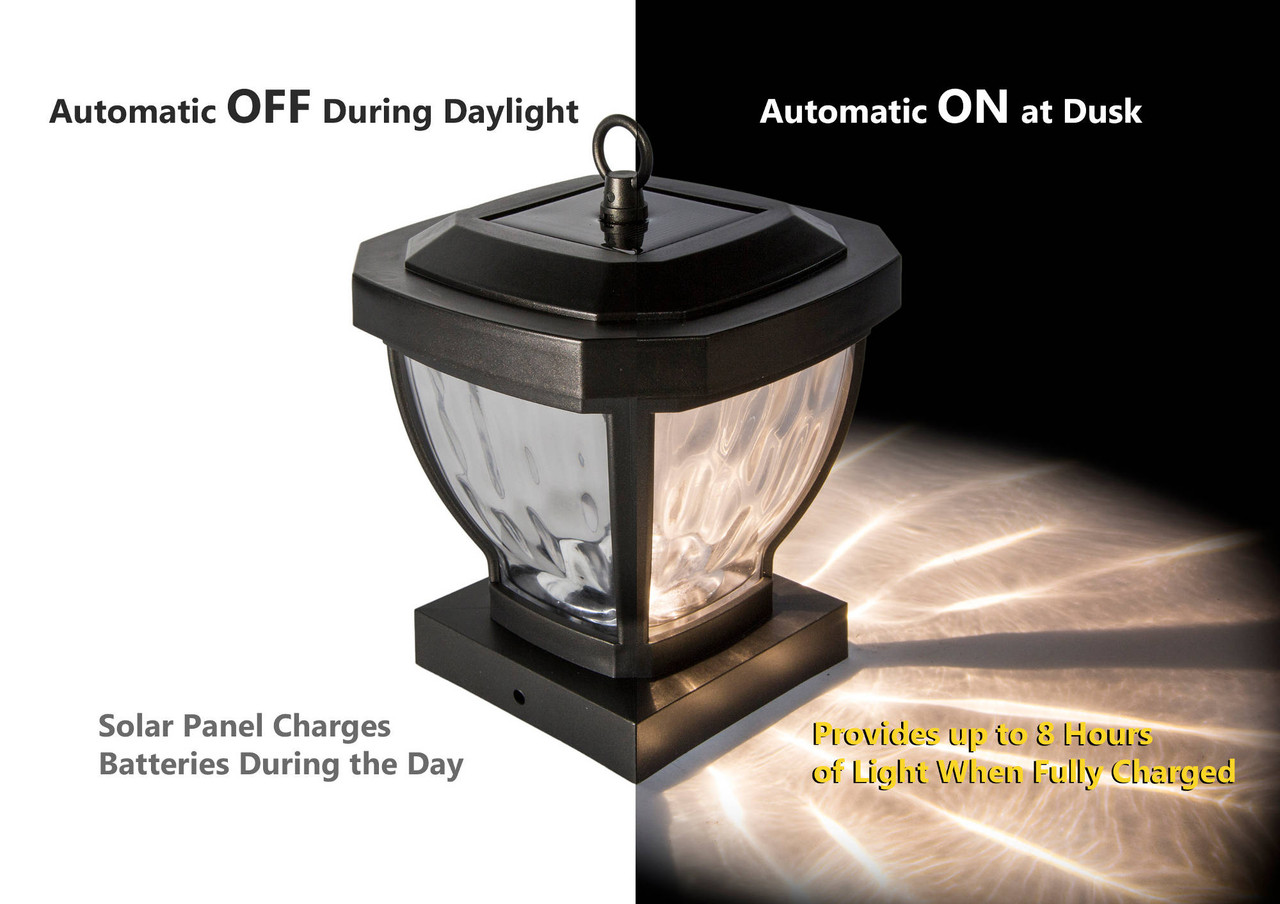 Classy Caps Manchester Solar Post Cap Light Automatic On / Off Feature