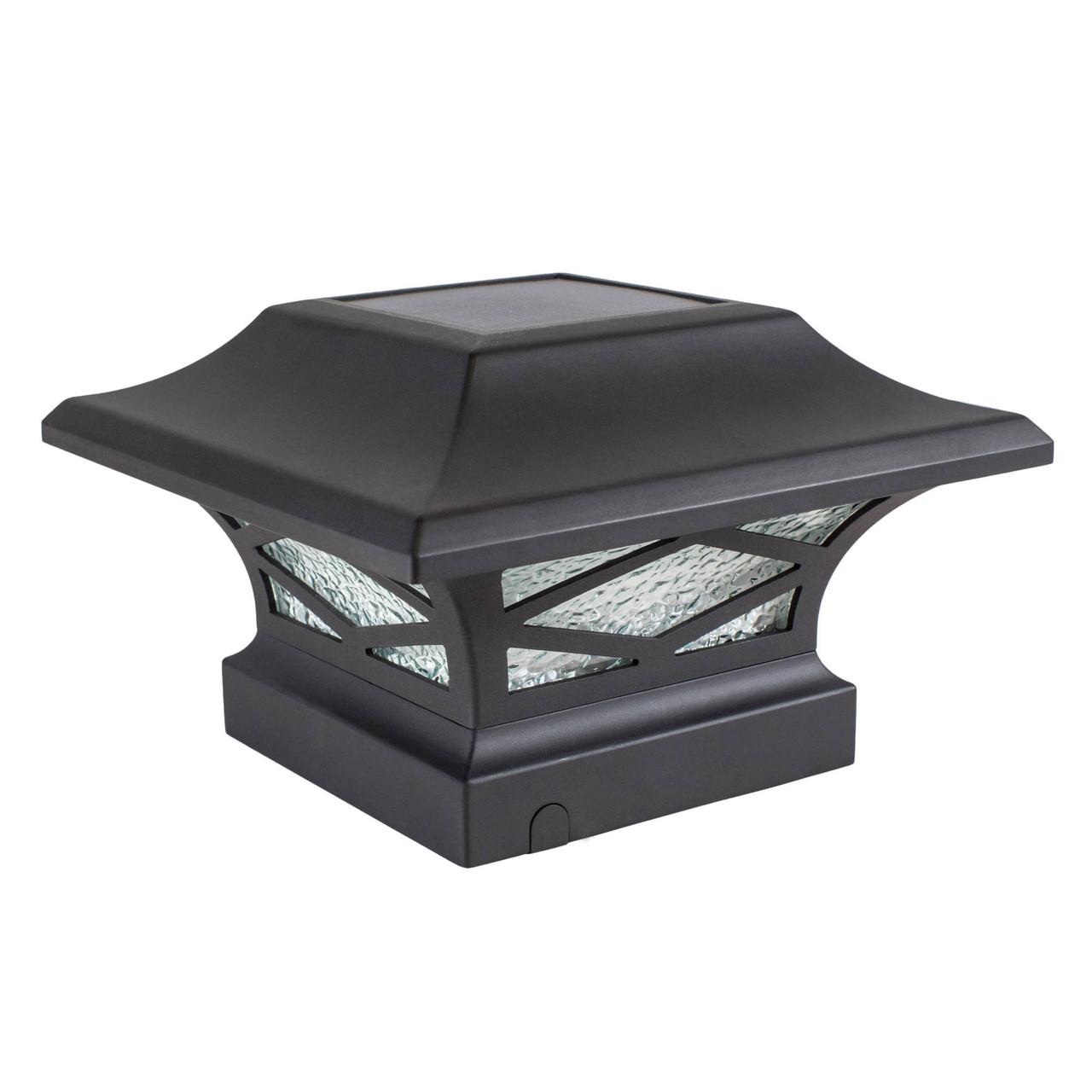 Kingsbridge Black Cast Aluminum Solar Post Cap Light from Classy Caps