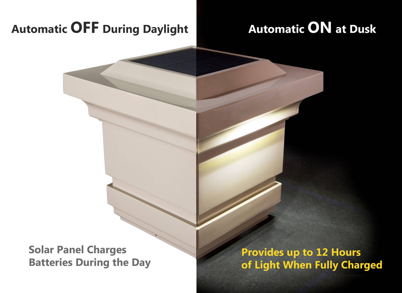 Classy Solar Post Cap Light Automatic On / Off Feature