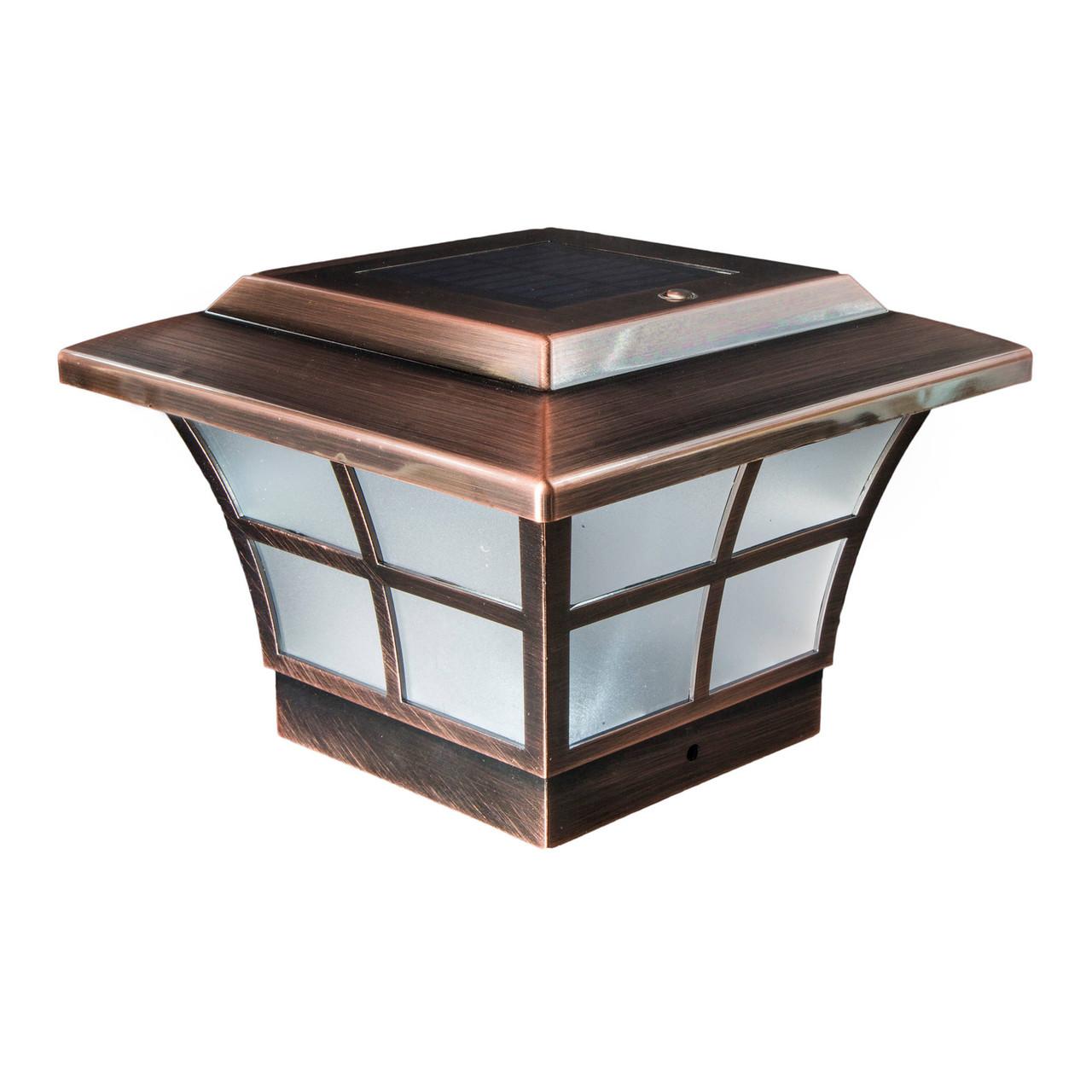 4x4 Copper Plated Prestige Solar Post Cap from Classy Caps (SLO79C)