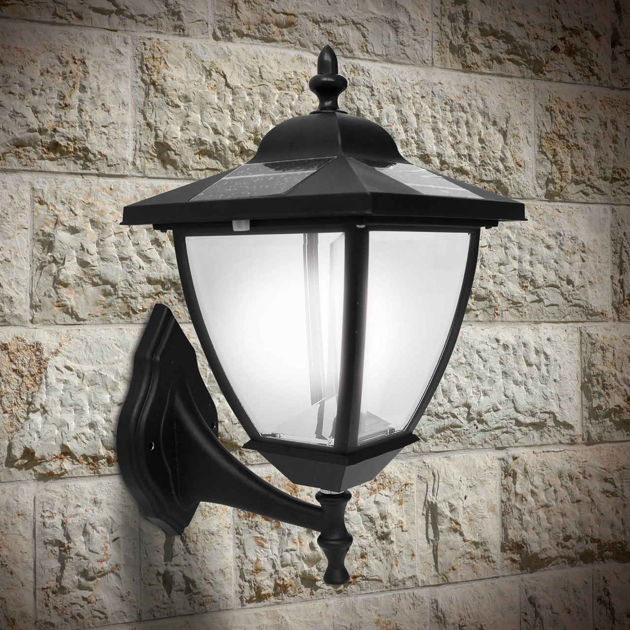 Elegante Solar Post Lamp from Classy Caps with Wall Mount