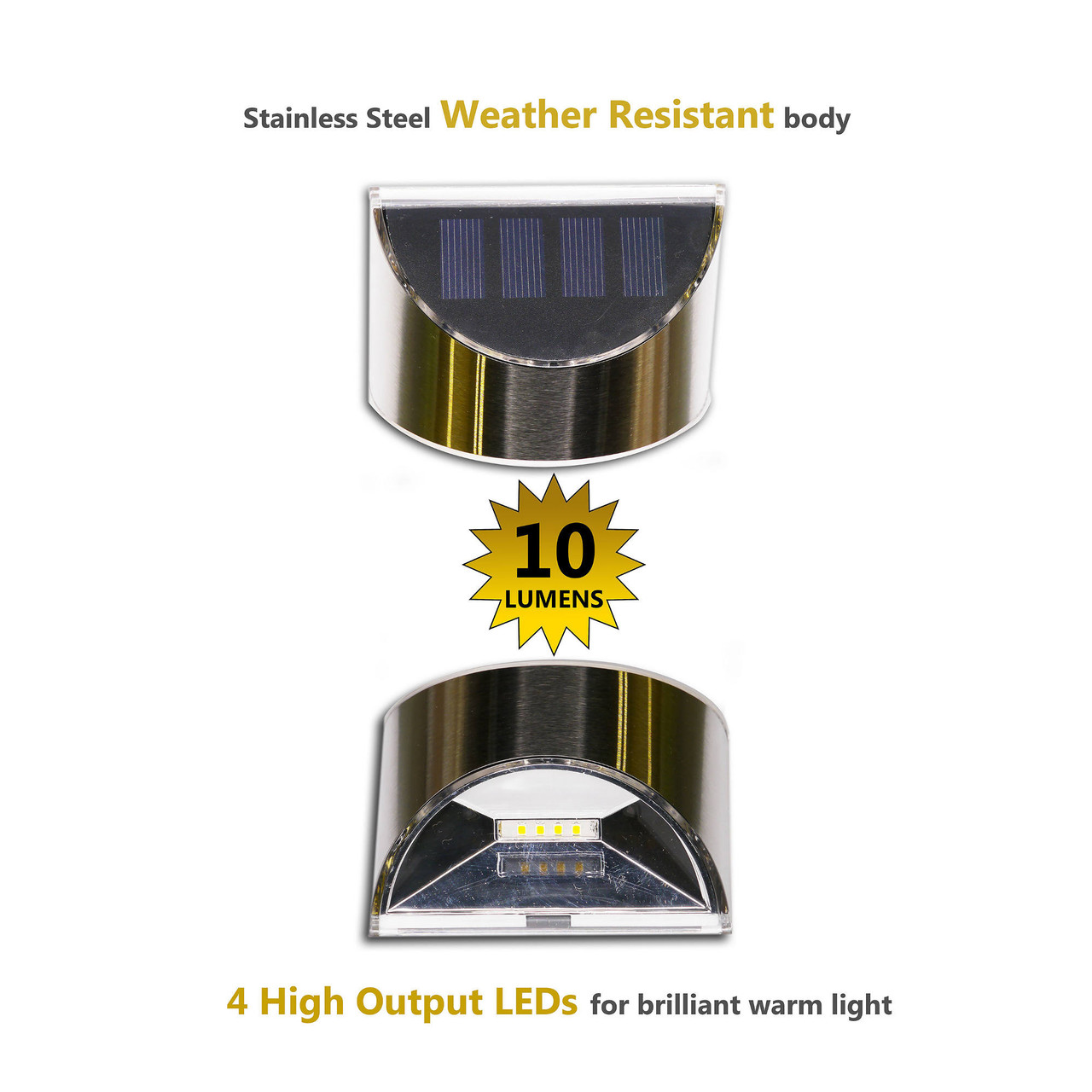 Stainless Steel Solar Deck & Wall Light DLS900 Graphic