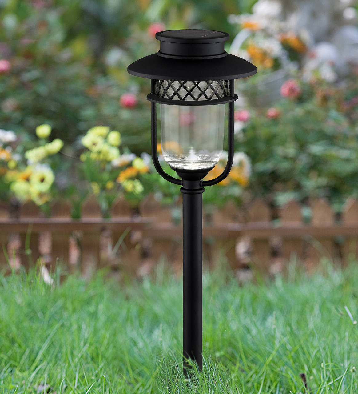 Classy Caps' Black Stainless Steel Garden Light in Ground