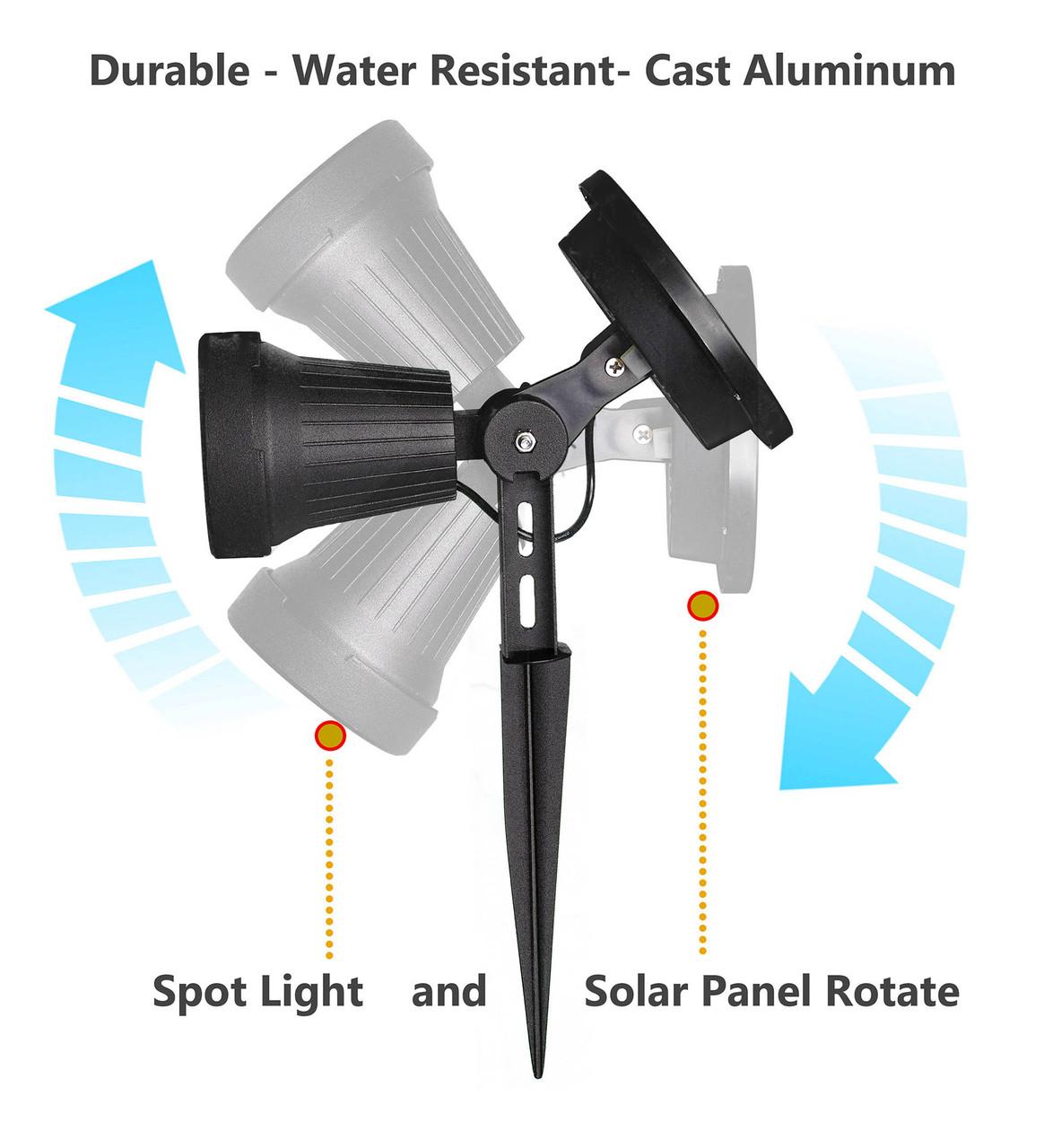 Classy Caps' Black High Performance Solar Spotlight Range Illustration
