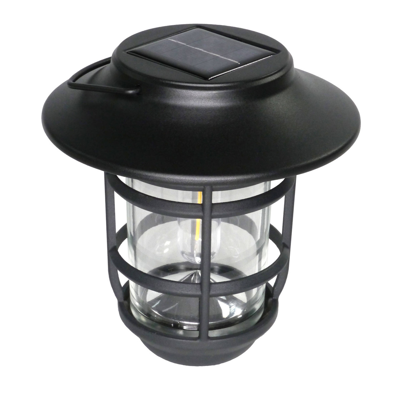 Nottingham Black Aluminum Solar Hanging Coach Light from Classy Caps (SHW553)