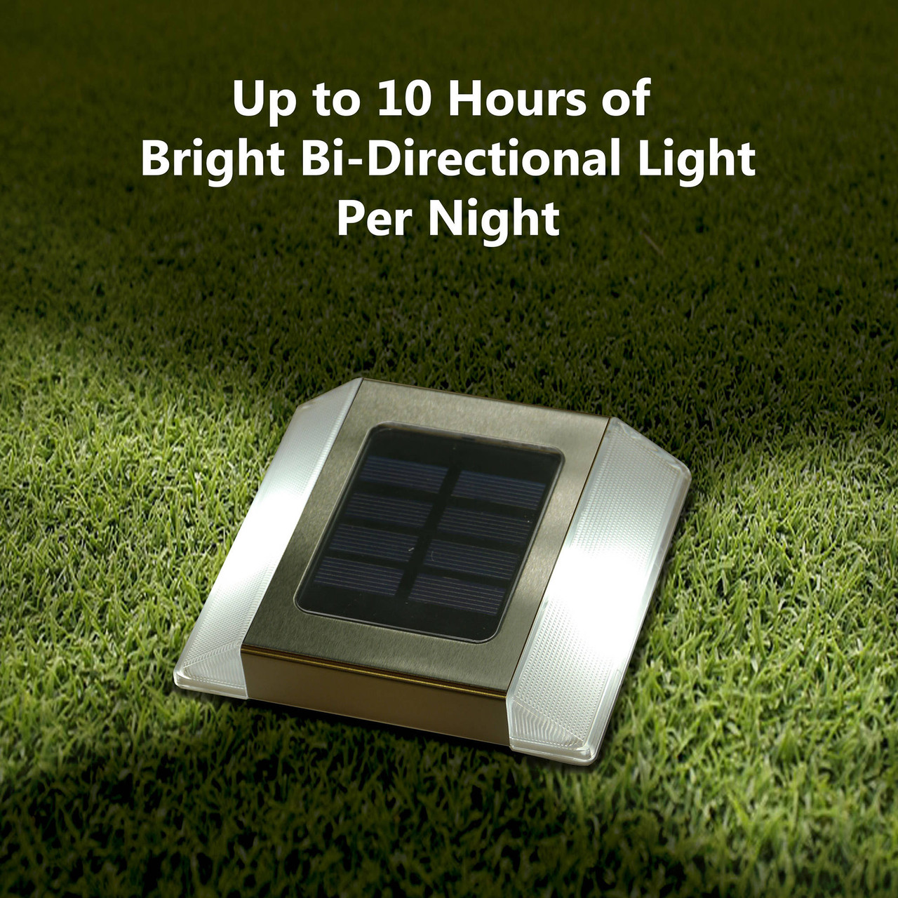 Stainless Steel Solar Path Light with Bi-Directional Light