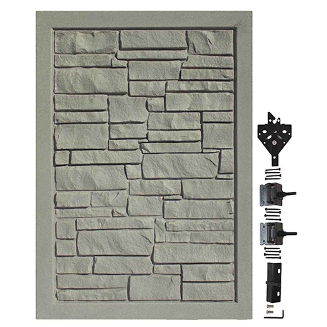 Gray Granite Bufftech Allegheny Swing Gate