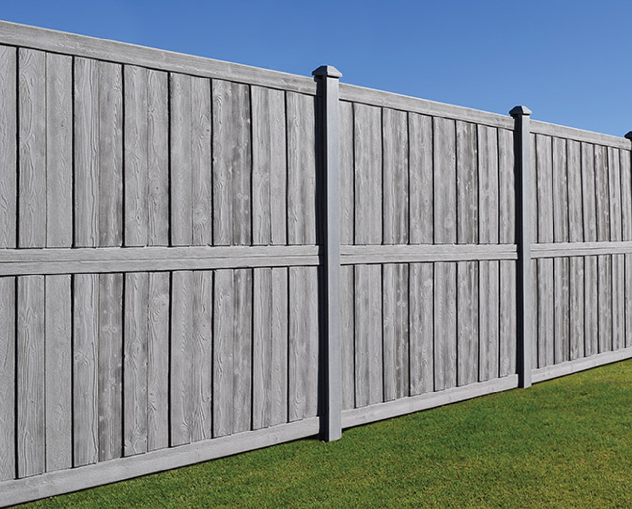 Bufftech Sherwood Molded Vinyl Fence Panels, Realistic Wood Look & Feel    Multiple Sizes & Colors
