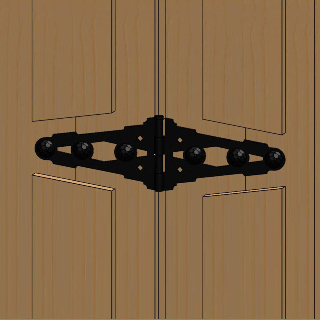 Typical Installation for OZCO OWT Hardware Strap Hinge